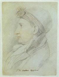 buste d'homme de profil by andrea appiani