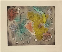 one plate from: serie ii by joan miró