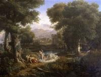 grand paysage avec la mort d'adonis by victor marie felix danvin