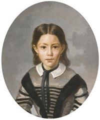 portrait de louise-laure baudot by jean-baptiste-camille corot