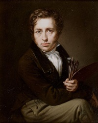 autoportrait à la palette by johann christian ziegler