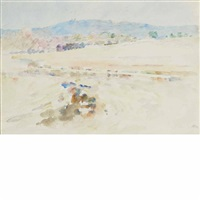 landscape, antibes by theodore robinson