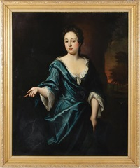 portrait of lady in blue silk by thomas gainsborough
