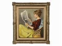 claudine à la lecture by marcel dyf
