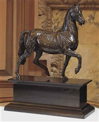 ecorche model of a pacing horse by luigi valadier