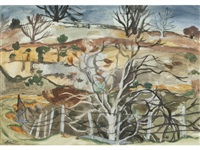 trees and quarry, middleton by william george gillies