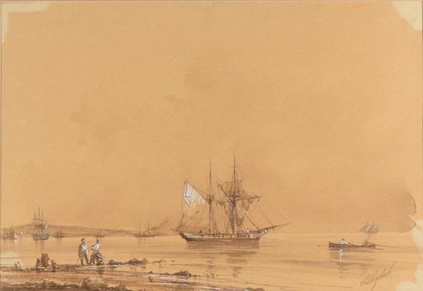 harbor scene by ivan konstantinovich aivazovsky