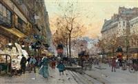 les grands boulevards by eugène galien-laloue