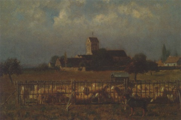 le parc aux moutons by alfred de knyff