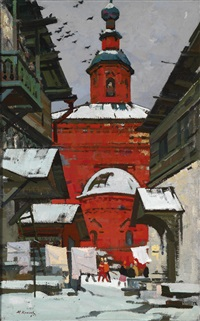 rote kirche by mikhail alexandrovich kaneev