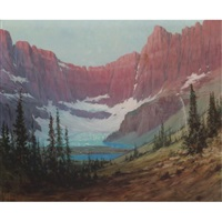 iceberg lake-mountains by louis b. akin