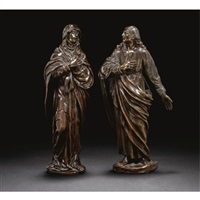 figures of the virgin and st. john (pair) by germain pilon