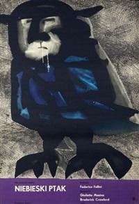 niebieski ptak by jan lenica