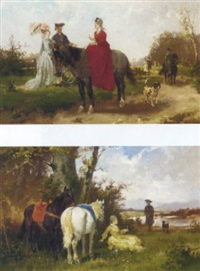 an afternoon ride by georg heinrich büttner