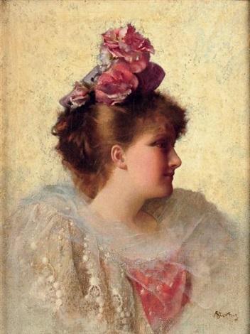 portrait d élégante by alfred stevens
