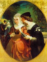 le couple romantique by auguste barthelemy glaize