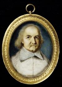 thomas hobbes (1588-1679), wearing white lawn collar by margaret, lady bingham