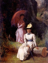 portrait of mother and child by joseph badger