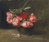 nature morte aux pivoines by joseph bail