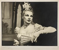 claire luce as becky sharp in vanity fair, london by angus mcbean