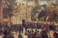 vue de la maison de victor hugo, 22 mai 1885 by francesco saverio altamura
