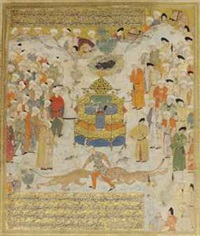 bahram gur proves his right to the throne of iran by anonymous-persian-safavid (16)