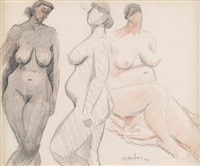 three nudes by milton avery