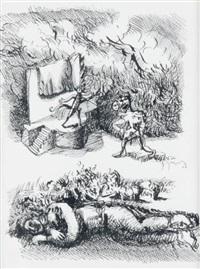 le rêve (série villon n°1) by gérard garouste
