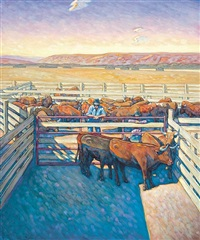 holding pen by the barn by howard post