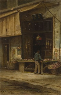 fish alley, old chinatown, s.f. by charles albert rogers