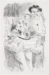 danseuse debout, acoudée, from dix danseuses (dancer standing acoudée, from ten dancers) by henri matisse