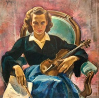violinist by stefan szönyi