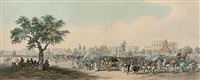 views of calcutta (set of 6) by charles (sir) d'oyly