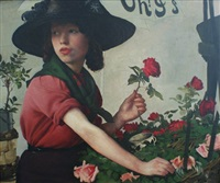 the flower seller by eric henri kennington