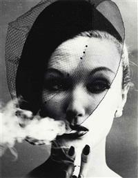 smoke + veil, paris ('vogue'), 1958 by william klein