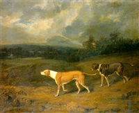 hunting dogs in a landscape by william smith