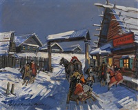 by the gates by konstantin alexeievitch korovin
