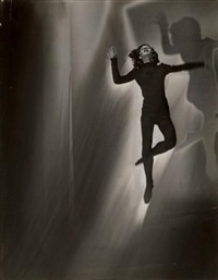 danseuse, solarisation by maurice tabard
