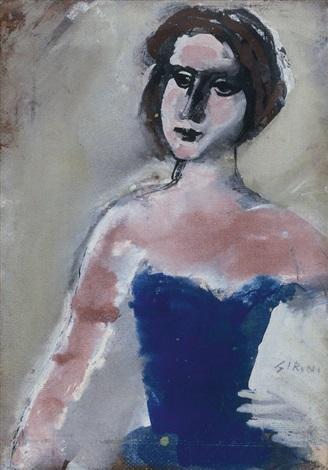busto femminile by mario sironi