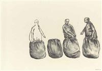 untitled (four figures) by juan muñoz