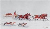 retour de chasse à l'ours en russie by théodore fort