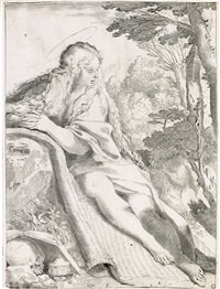 mary magdalen in the wilderness by annibale carracci