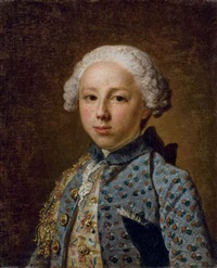 portrait d'un jeune homme en buste by jacques andré joseph aved
