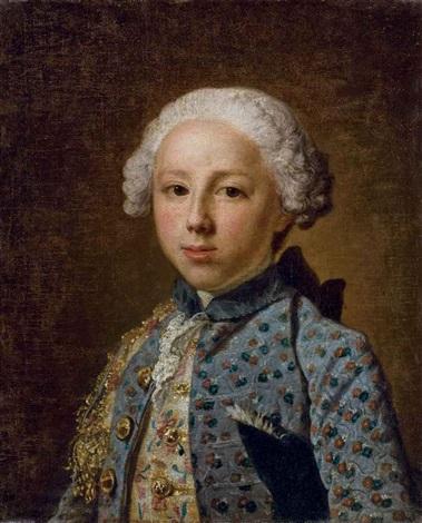 portrait dun jeune homme en buste by jacques andré joseph aved