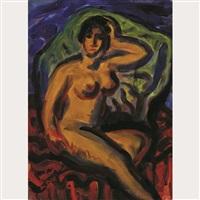 seated nude by marjorie (jori) elizabeth thurston smith
