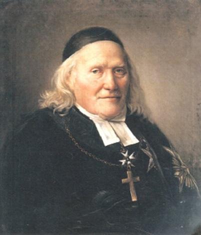 porträtt av domprosten i västerås erik waller by per krafft the younger