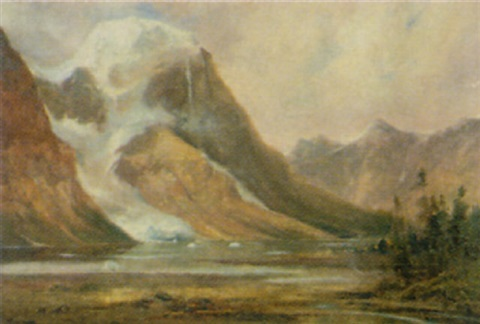 the tumbling glacier b lake by augustus fredrick kenderdine