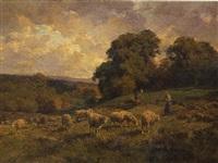 la gardienne de moutons by charles henri quinton