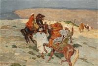 cavaliers dans le sud marocain by henri sené