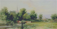 the river avon at stratford by walter henry pigott